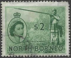 North Borneo. 1954-59 QEII. $2 Used SG 384 - North Borneo (...-1963)