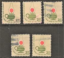 United States - Scott #1611 Used - 5 Different (1) - Plate Blocks & Sheetlets