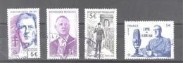 """France Oblitérés : N°5446 à 5449 (les 4 Timbres Du Bloc """"Charles De Gaulle"""") - RARE (cachet Rond) - Used Stamps"""