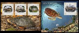 DJIBOUTI 2021 - Turtles, M/S + S/S. Official Issue [DJB210409] - Tartarughe
