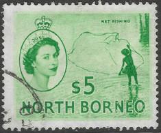 North Borneo. 1954-59 QEII. $5 Used SG 385 - North Borneo (...-1963)