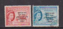SOMALILAND    1957    Opening  Of  Leglislative  Council    Set  Of  2    USED - Somaliland (Protectorate ...-1959)