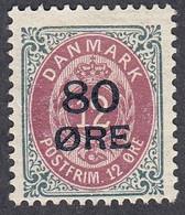 Denmark, Scott #136, Mint Hinged, Arms Surcharged, Issued 1915 - Ungebraucht