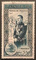 MCO0341U - Accession Of Prince Rainier III - 5 F Used Stamp - Monaco - 1950 - Gebruikt