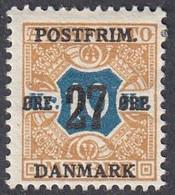Denmark, Scott #144, Mint Hinged, Newspaper Stamp Surcharged, Issued 1918 - Ungebraucht