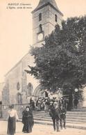 MANSLE - L'Eglise, Sortie De Messe - Mansle