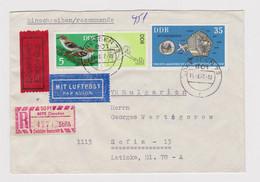 1970s East Germany DDR Reg Gebuhr Bezahlt 50Pf Label Bird, Space Stamp Cover (38333-1) - Briefe U. Dokumente