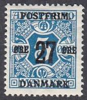 Denmark, Scott #146, Mint Hinged, Newspaper Stamp Surcharged, Issued 1918 - Ungebraucht
