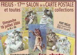 Carte Postale AFFICHE Du 17ème SALON De La Carte Postale Et Toutes Collections. FREJUS; Expo Sur Les CHATS - Esposizioni