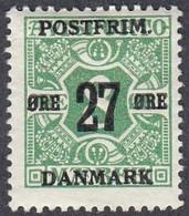 Denmark, Scott #148, Mint Hinged, Newspaper Stamp Surcharged, Issued 1918 - Ungebraucht