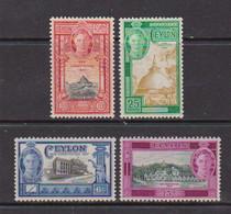 CEYLON    1947    Inauguration  Of  New  Constitution    Set  Of  4    MH - Ceylon (...-1947)