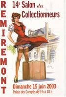 Carte Postale AFFICHE Du 14ème SALON Des Collectionneurs REMIREMONT; 2003 - Manifesti Su Carta