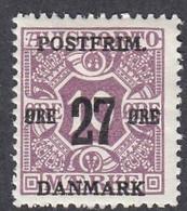 Denmark, Scott #149, Mint Hinged, Newspaper Stamp Surcharged, Issued 1918 - Ungebraucht