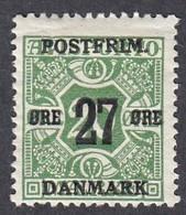 Denmark, Scott #150, Mint Hinged, Newspaper Stamp Surcharged, Issued 1918 - Ungebraucht