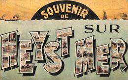 Heist - Heyst - Souvenir De (colorisée Multi-vues Précurseur...adhésif Au Dos) - Heist