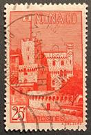 MCO0397U - Monaco Views - Clocktower Of The Palace - 25 F Used Stamp - Monaco - 1954 - Gebruikt
