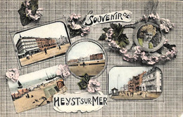 Heist - Heyst - Souvenir De (multi-vues Colorisée Phototypie L. Collin 1910) - Heist
