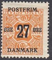 Denmark, Scott #151, Mint Hinged, Newspaper Stamp Surcharged, Issued 1918 - Ungebraucht