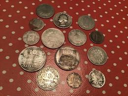 Lot De 14 Pièces Argent (B-)bien Regarder Le Scan - Lots & Kiloware - Coins