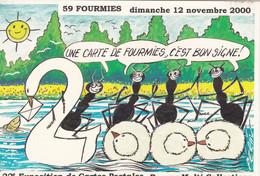 Carte Postale AFFICHE De La 22ème Exposition De Cartes Postales, Collections 2000 FOURMIES - Esposizioni