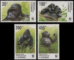 2110/2113** - Gorilles / Gorilla's / Gorillas - WWF - CONGO - Ongebruikt