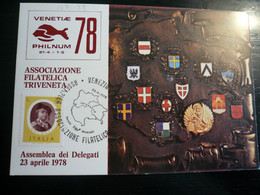 Venezia 1978 Rassegna Filatelica Triveneta 23.04.78 Al Retro Annullo Figurato - Altri