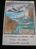 1990 60° Anniv.Crociera Transatlantica Cartolina Numerata - Altri