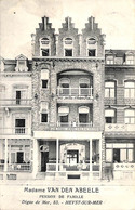 Heist - Heyst - Madame Van Den Abeele - Pension De Famille (animée, Photo Daix 1913) - Heist