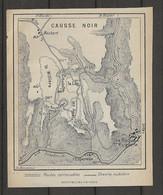 CARTE PLAN 1914 - MONTPELLIER Le VIEUX - CAUSSE NOIRES - CHEMINS MULETIERS - MAUBERT - L'ESPERELLE - - Carte Topografiche