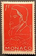 MCO0399MNH - 100th Anniversary Of The Death Of Frederic Ozanam - 1 F MNH Stamp - Monaco - 1954 - Ongebruikt