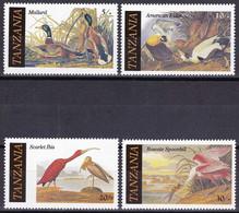 Tanzanie YT 277/80 Mi 315/18 Année 1986 (MNH **) Oiseaux - Canard - Birds - Duck - Tanzania (1964-...)