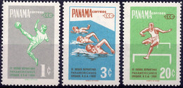 PANAMA :1959: Y.333-35 & LP/PA210-12*** Postfris/neufs/MNH :  FOOTBALL,SWIMMING,HURDLES,BOXING,BASE-BALL,BASKET-BALL. - Pallacanestro