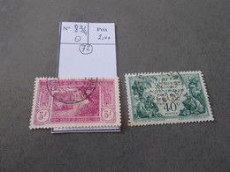 TIMBRE COTE D'IVOIRE.N°83/4.OBL .CATALOGUE YVERT. - Used Stamps
