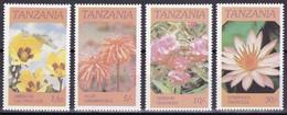 Tanzanie YT 281/84 Mi 324/27 Année 1986 (MNH **) Fleur - Flower - Tanzania (1964-...)