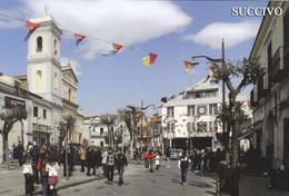 (R256) - SUCCIVO (Caserta) - Piazza IV Novembre Con Municipio E Parrocchia Della Trasfigurazione - Caserta