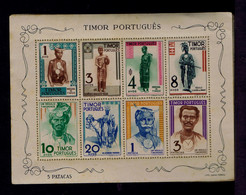 #87997 TIMOR Indigena Costumes Cultures Costumes Portugal S/S Normal Paper Gum On Back Side To African-Asiatic Countries - Non Classificati