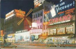 PARIS. - Le Moulin-Rouge La Nuit.  (scan Verso) - Parigi By Night