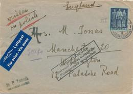 Lettre AVION 50c SEUL ../6/40 > Angleterre RETOUR ZURÜCK SERVICE POSTAL SUSPENDU - WW2 Guerre - Covers & Documents