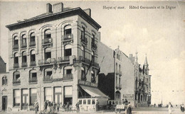 Heist - Heyst - Hôtel Germania Et La Digue (animée Edit. Weber 1912) - Heist