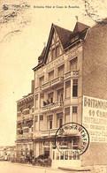 Heist - Heyst - Britannia Hôtel Et Coupe De Bruxelles (café) Animée 1925 Nels - Heist