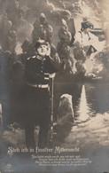 German Postcard With German Soldier Dreaming Posted Rastatt 17.10.1977 (DD31-43) - Militaria