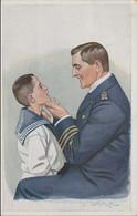 German Postcard With German Sailor/Officer Posted Warendorf 28.1.1917 (DD31-43) - Militaria