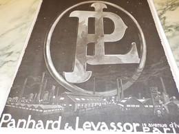 ANCIENNE PUBLICITE VOITURE   PANHARD ET LEVASSOR  1919 - KFZ