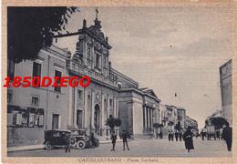 CASTELVETRANO - PIAZZA GARIBALDI  F/GRANDE VIAGGIATA 1936 ANIMAZIONE - Trapani