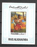 Ras Al Khaima 1970 Art - Paintings Gauguin IMPERFORATE MS MNH - Altri