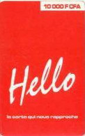 BURKINA : BKN02 10000FCFA Red Hello La Carte.. USED - Burkina Faso