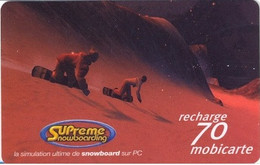 FRANCE : FRA61 70 Snowsurfing Red Mountain USED - Per Cellulari (telefonini/schede SIM)