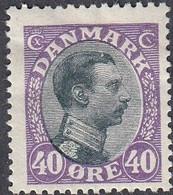 Denmark, Scott #116, Mint Hinged, Christian X, Issued 1918 - Ungebraucht