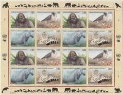 UNO GENF  227-230, Kleinbogen, Postfrisch **, Gefährdete Arten (I): Fauna 1993 - Blocks & Kleinbögen