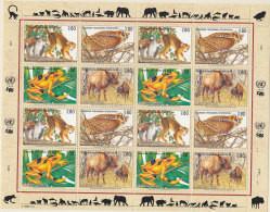 UNO GENF 263-266,  Zd-Bogen, Postfrisch **, Gefährdete Arten 1995 - Blocks & Kleinbögen
